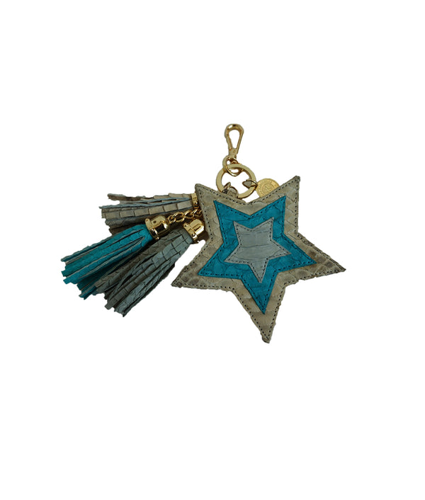 Star Charm - Ivory Scaled/Turquoise