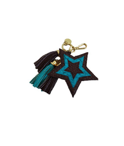 Star Charm - Burgundy/Turquoise