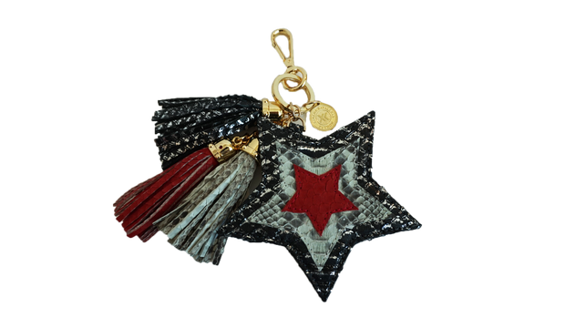 Star Charm Black-Silver/Red