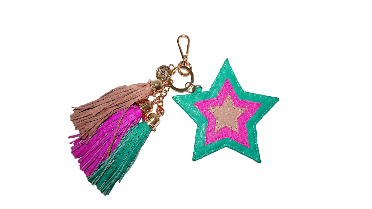 Star Charm Emerald/Hot Pink/Nude