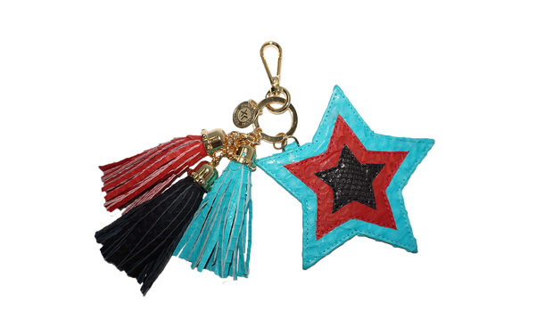 Star Charm Black/Red/Turquoise
