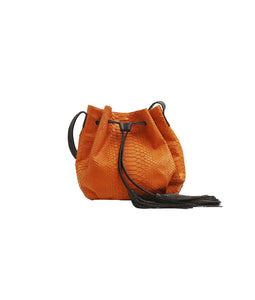 Ana Tassel - Tangerine/Chocolate Brown