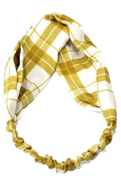 Mustard Plaid Headband