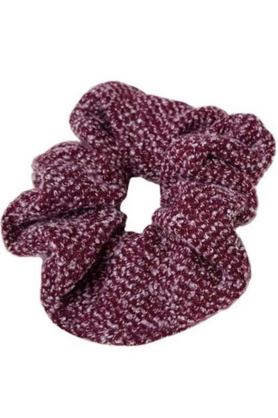 Burgundy Sweater Scrunchie