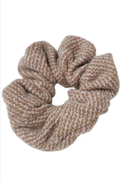 Taupe Sweater Scrunchie