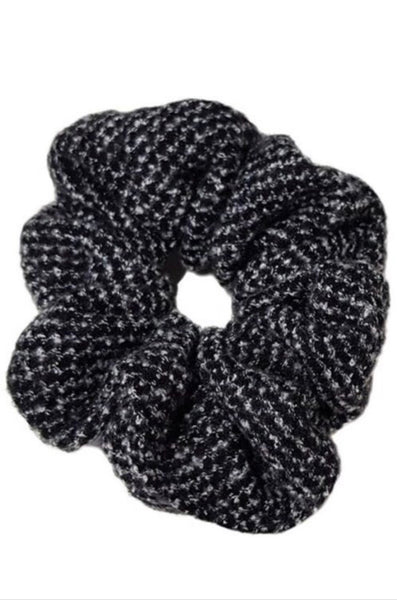 Black Sweater Scrunchie