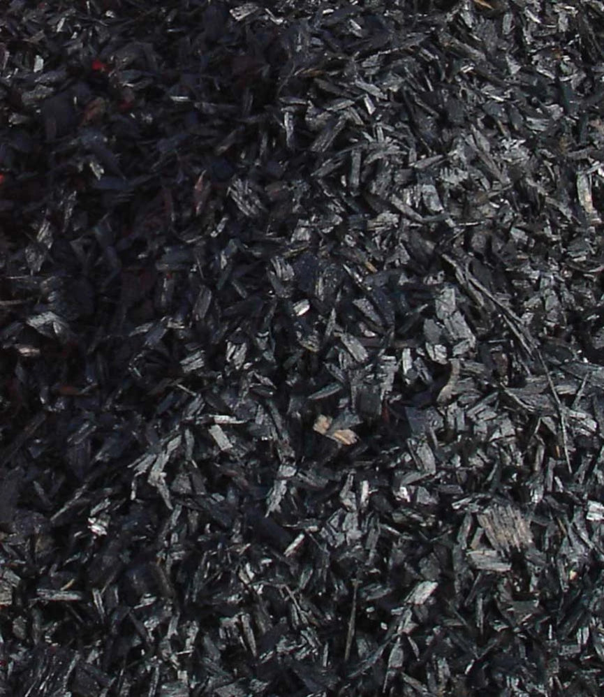 Black Coloured Wood Chip