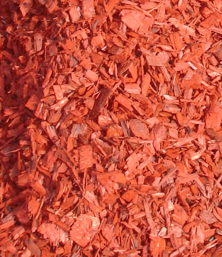 Red Coloured Wood Chip
