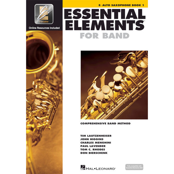 Hal Leonard Essential Elements for Band – E Flat Alto Saxophone Book 1 with EEi