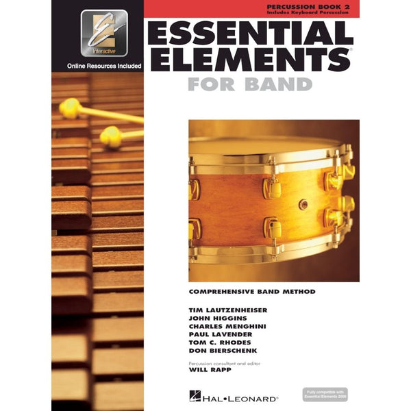Hal Leonard Essential Elements For Band – Percussion/Keyboard Percussion Book 2 with EEi