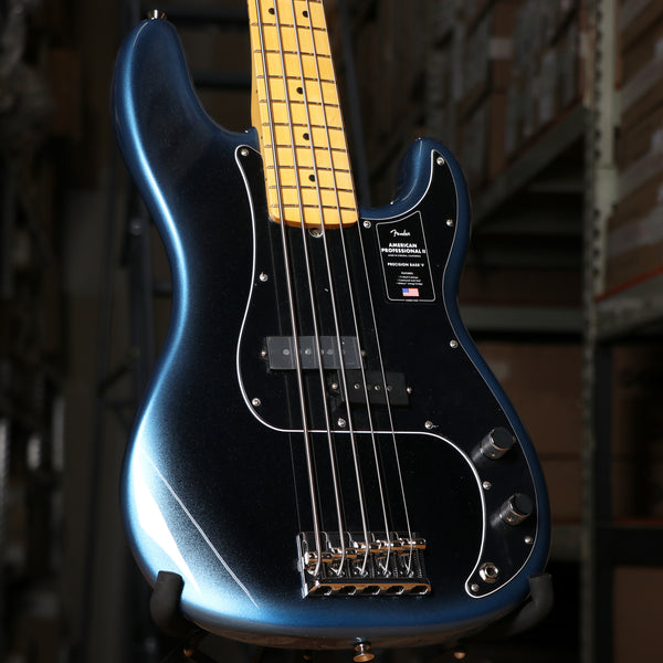 Fender American Professional II Precision Bass V, Maple Fingerboard, Dark Night