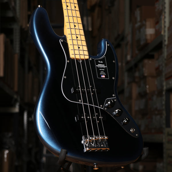 Fender American Professional II Jazz Bass, Maple Fingerboard, Dark Night