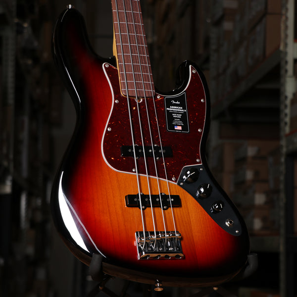 Fender American Professional II Jazz Bass Fretless, Rosewood Fingerboard, 3-Color Sunburst