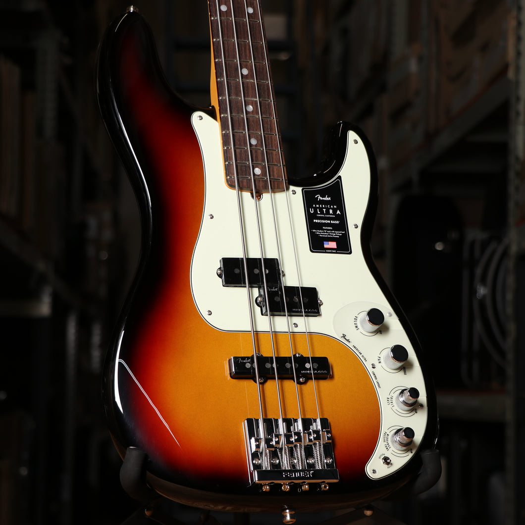 Fender American Ultra Precision Bass Guitar Ultraburst