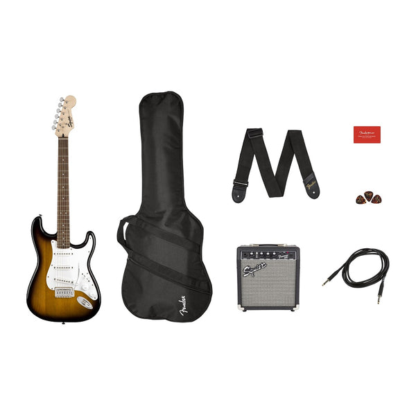 Fender Squier Stratocaster All-in-one Pack in Brown Sunburst - 0371823032