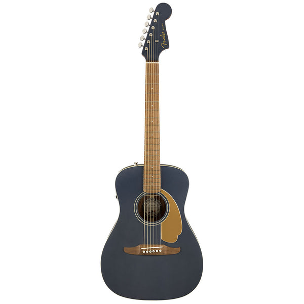 Fender Malibu Player Acoustic Electric Guitar Walnut Fingerboard in Midnight Satin