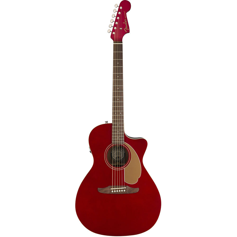 Fender Newporter Player Acoustic Electric Guitar Candy Apple Red