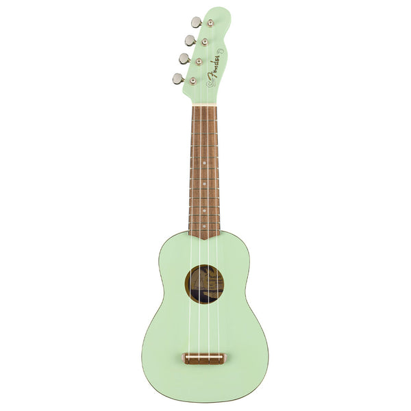 Fender Venice Soprano Uke in Surf Green Walnut Fretboard