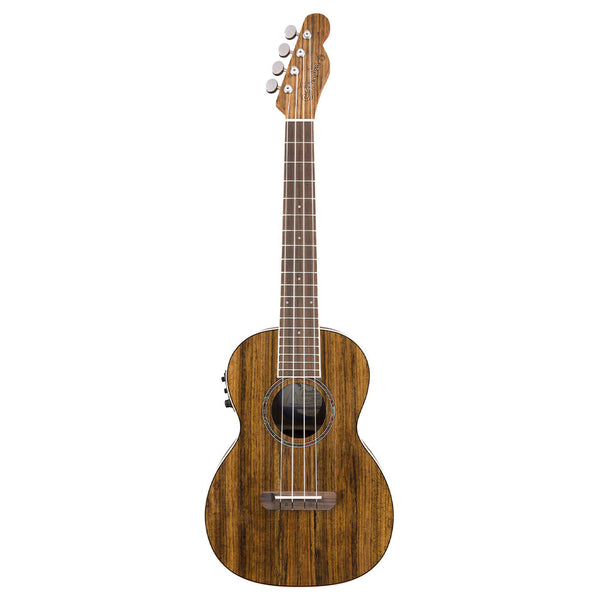 Fender Rincon Tenor Acoustic Electric Ukulele V2, Ovangkol Fingerboard, Natural
