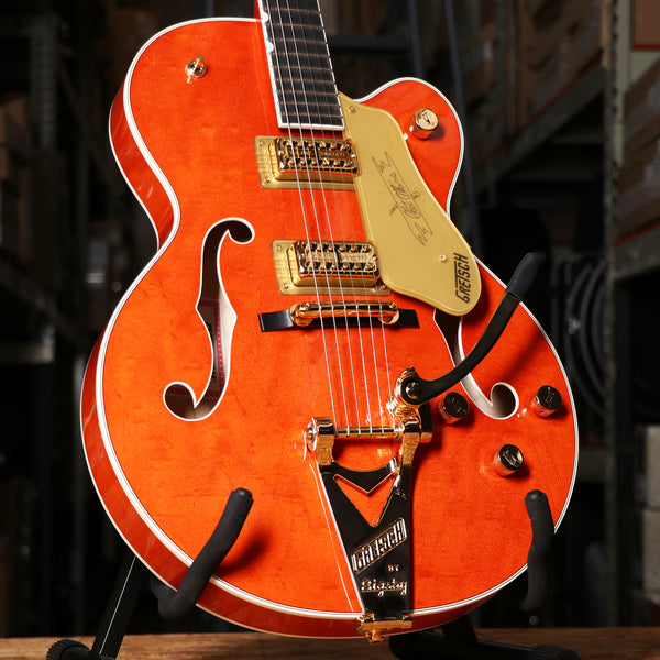 Gretsch G6120T Players Edition Nashville Chet Atkins Electric Guitar Orange Stain