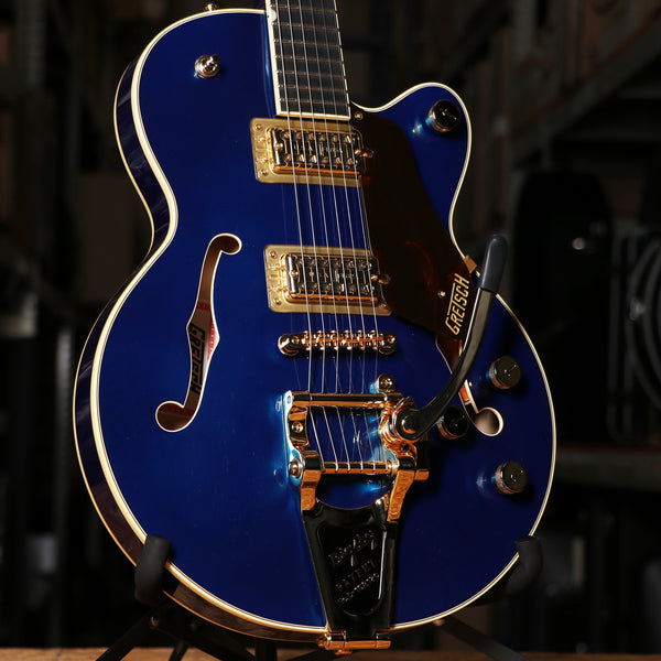 Gretsch G6659TG Players Edition Broadkaster® Jr. Center Block Azure Metallic with Gold Hardware