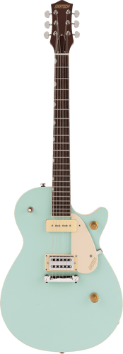 Gretsch G2215-P90 Streamliner Junior Jet Club electric guitar in Mint Metallic