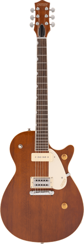 Gretsch G2215-P90 Streamliner Junior Jet Club electric guitar in Single Barrel Stain