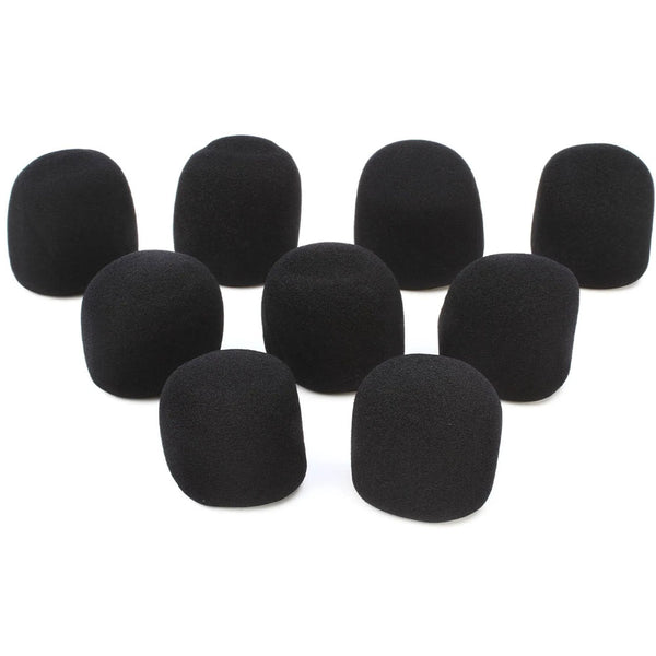 On Stage ASWS58B9 9 Pack of Windscreen Mic Foam in Black