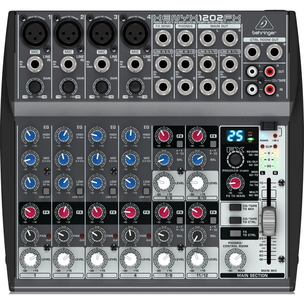 behringer xenyx 1202fx 12 channel analog compact mixer. Black Bedroom Furniture Sets. Home Design Ideas