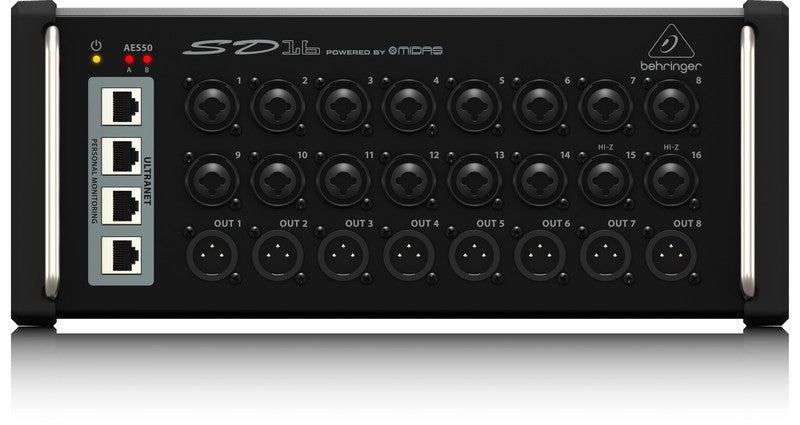 Behringer SD16 I/O Stage Box with 16 Mic Preamps