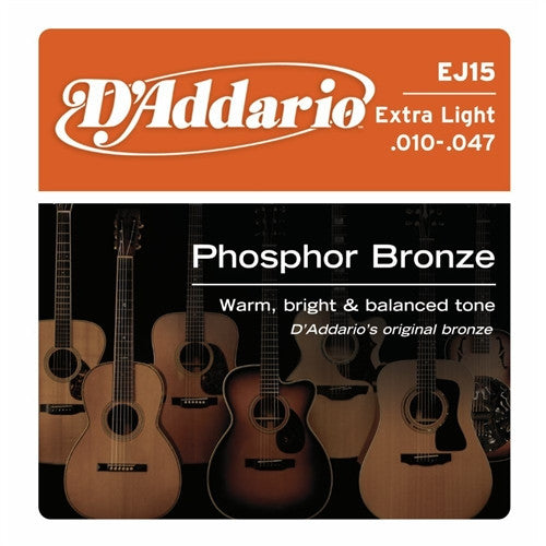 Phosphor Bronze Acoustic Guitar Strings - Extra Light 10-47