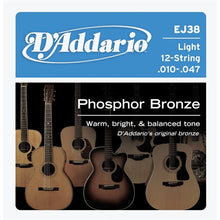 12-String Phosphor Bronze Light Acoustic Guitar Strings