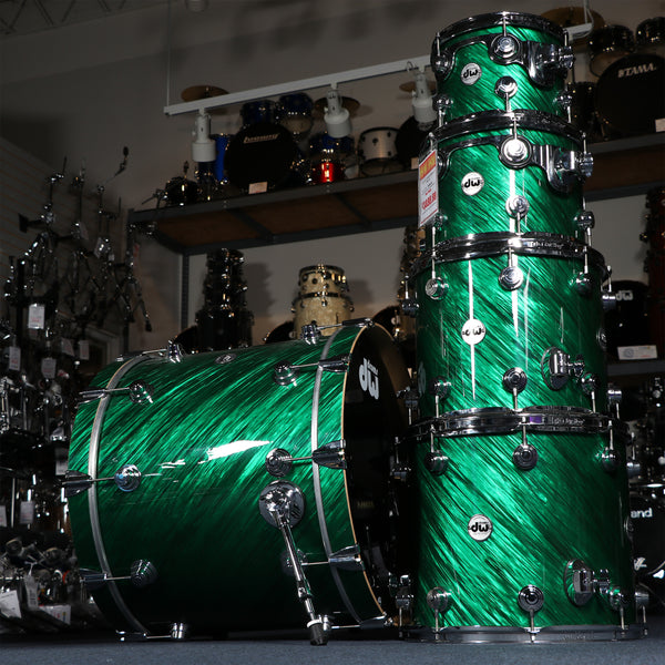 DW Collectors Series Roots Rock 5 Piece Maple Shell Kit in Twisted Green