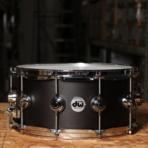 DW DRSO6514SSE 6.5x14 Collectors Series Maple Snare - Satin Ebony Finish
