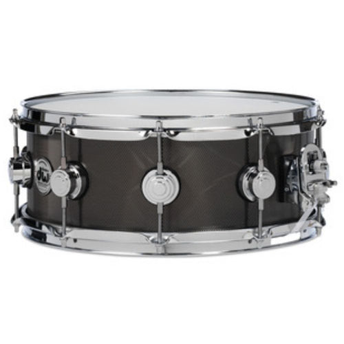 DW Collectors Steel Snare 14x6.5 Knurled Black Nickel w/ Chrome Hardware