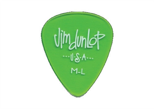 Dunlop Gels Medium-Light Pick (12 pack Green)