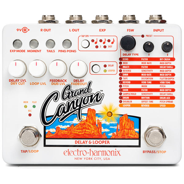 Electro-Harmonix Grand Canyon Delay and Looper Guitar Effects Pedal