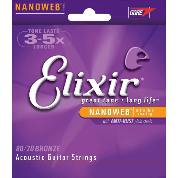 Elixir 11052 8020 Bronze Acoustic Strings Light Gauge