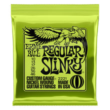 Ernie Ball 2221 Regular Slinky Nickel Wound Electric Guitar Strings; 10-46