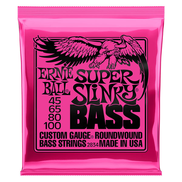 Ernie Ball 2834 Super Slinky Nickel Wound Electric Bass Strings; 45-100