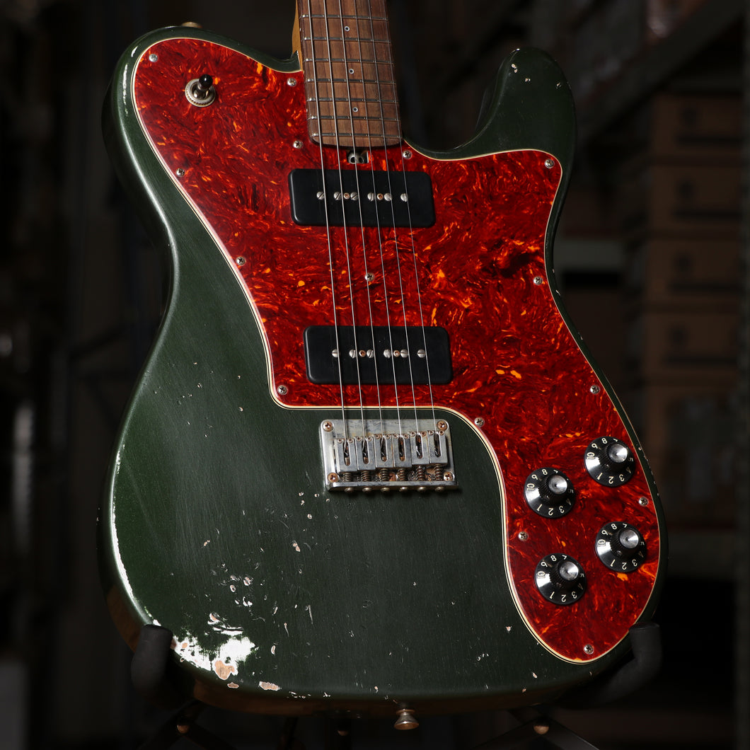 Friedman VINTAGE-T-ARCGTP90-P Vintage T Aged Alder Electric Guitar in Cadillac Green with Case