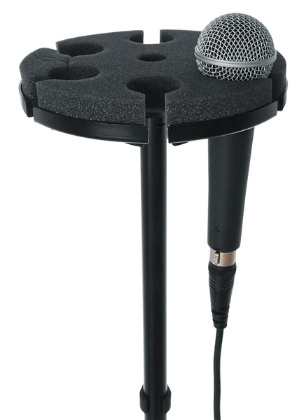 Gator GFWMIC6TRAY Multi Microphone Tray Designed To Hold 6 Mics
