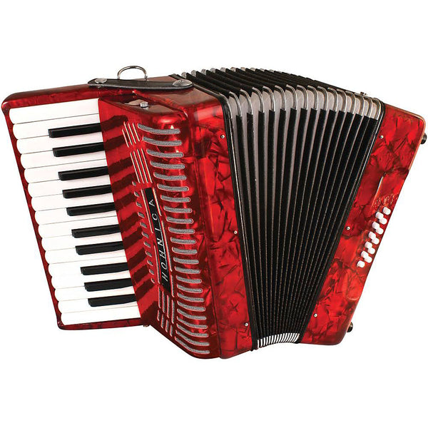 Hohner 1303 Hohnica 12 Bass 25-Key Piano Accordion Red
