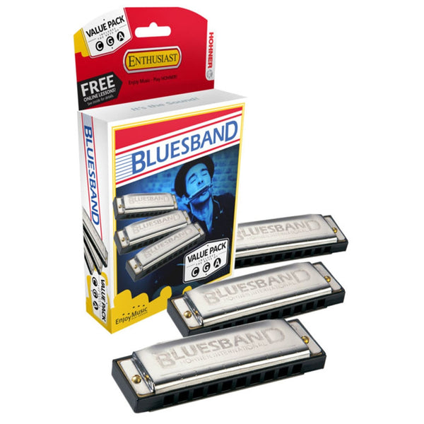Hohner Blues Band Harmonica Value Pack C G A