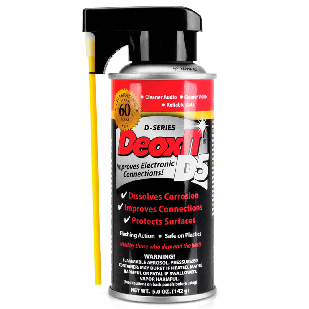 Hosa D5S6 CAIG DeoxIT Contact Cleaner - 5% Spray 5 oz