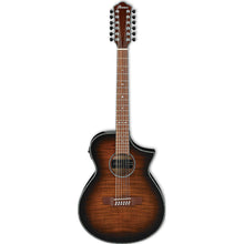 Ibanez AEWC4012FMTIB 12-String Acoustic Electric in Tiger Burst High Gloss