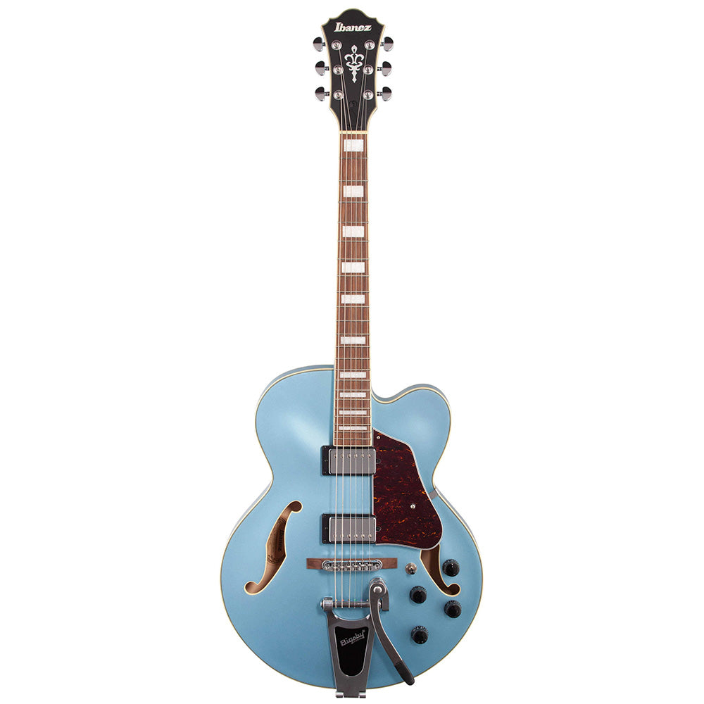 Ibanez AFS75TSTF Artcore AFS Semi-Hollow Guitar Bigsby in Steel Blue Flat