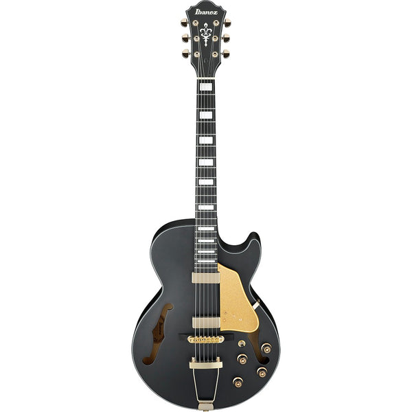 Ibanez Artcore Series AG85 Semi-Hollow Body Electric Guitar in Black Flat