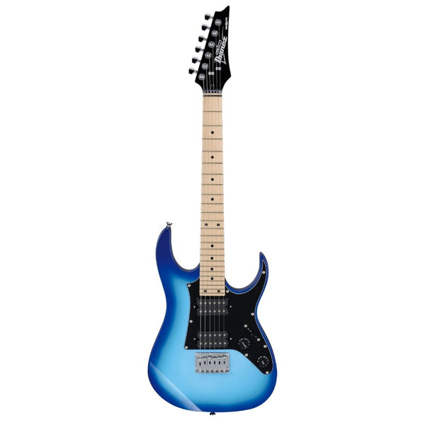 Ibanez GRGM21MBLT RG miKro Electric Guitar, Maple Fretboard in Blue Burst