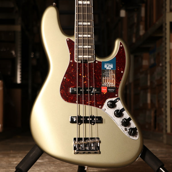Fender American Elite Jazz Bass in Satin Jade Pearl Metallic - SN: 7511